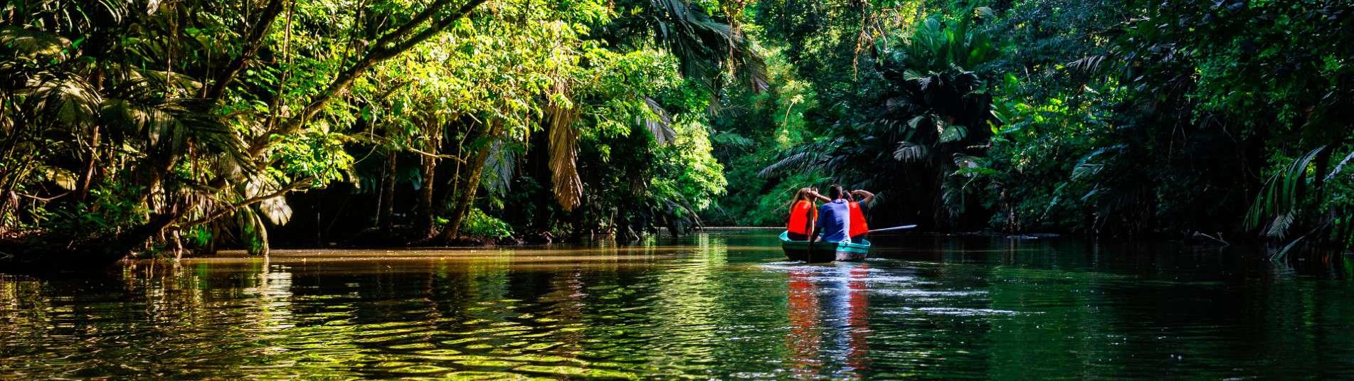 Pirogue dans la mangrove du Parc Tortuguero Costa Rica