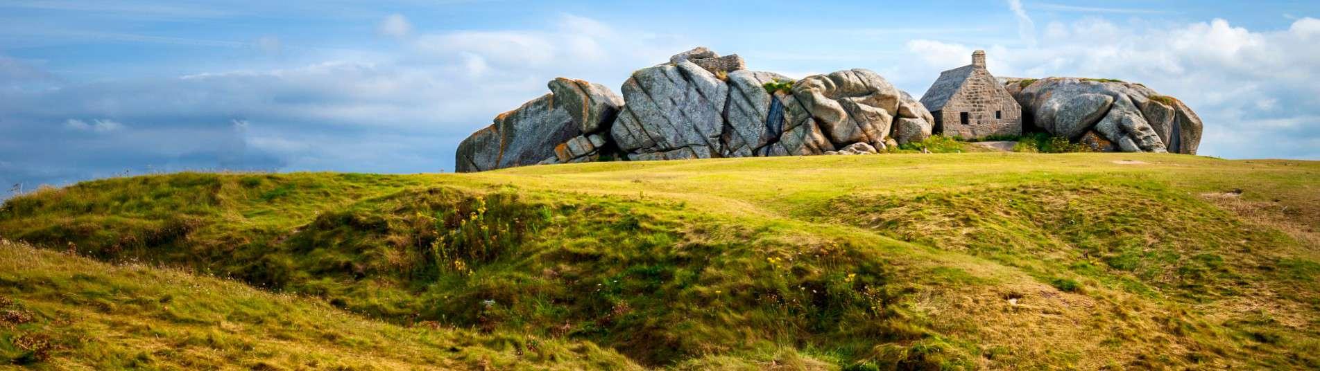 Village de Meneham dans le Finistère en Bretagne