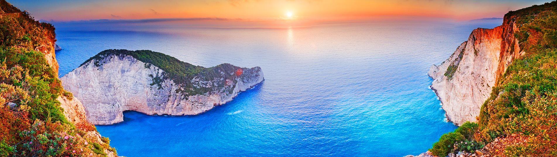 Vue sur mer à Zante