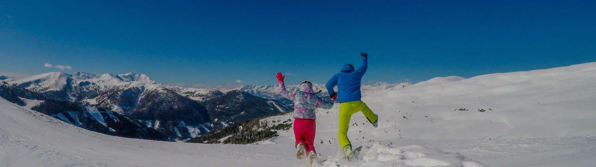 Couple au ski