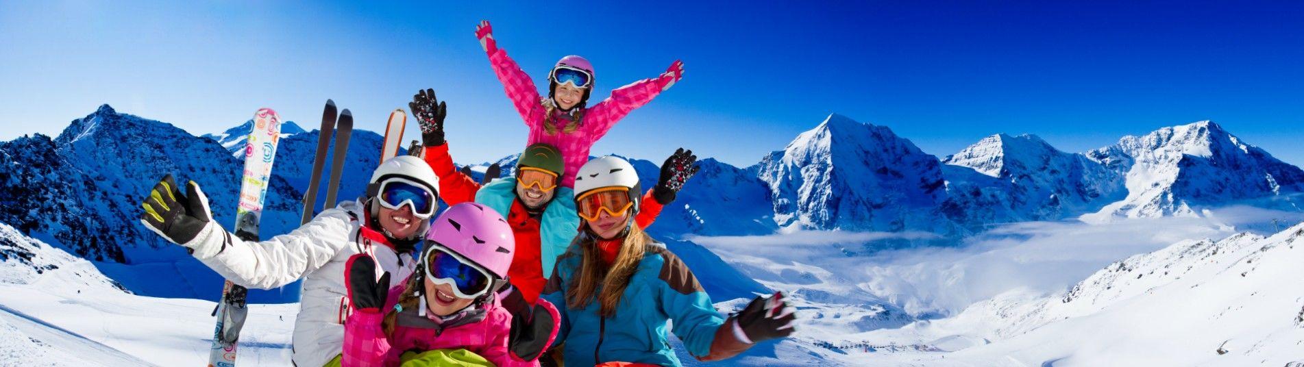 Famille au ski